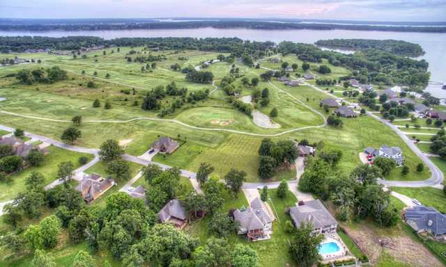 Aerial view from Patricia Island Golf Club.