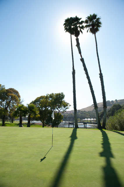 View from a green at Avila Beach Golf Resort.