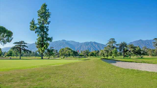 View of a green at Santa Anita Golf Course.
