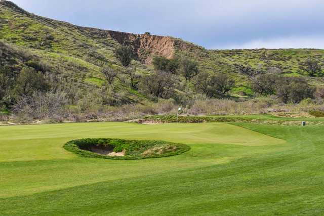 View of a green at Rustic Canyon Golf Course.