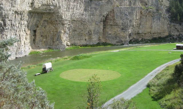 A view of a hole at Heaven on Earth Par 3 Ranch & Golf Course.