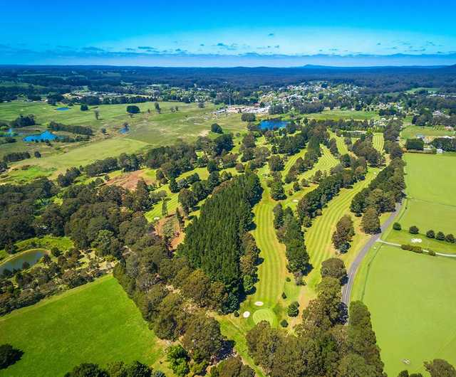 Aerial view from Trentham Golf Club.