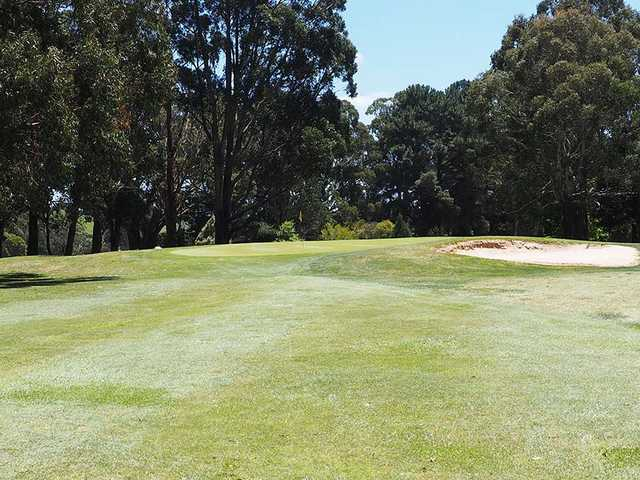 A view of hole #1 at Trentham Golf Club.