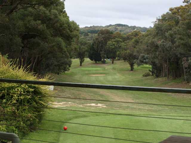 A view from the clubhouse at Hepburn Springs Golf Club.