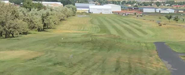 A view of a fairway at Lakeview Country Club.