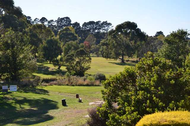 A view from Ballan Golf Club.