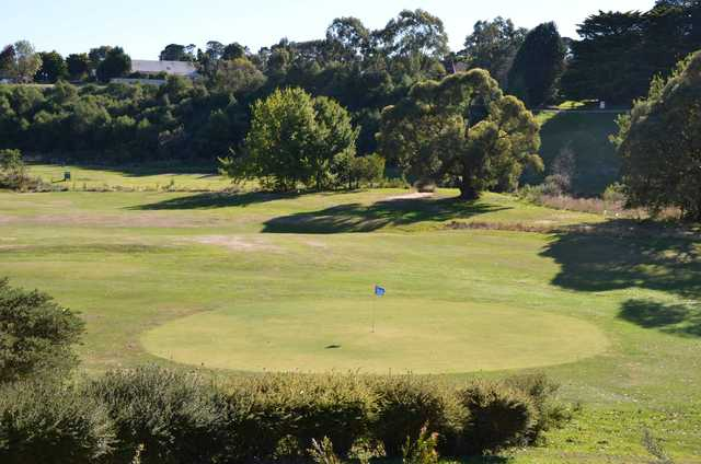 View of a green at Ballan Golf Club.