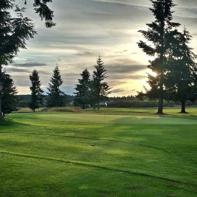 View of a green at Tahoma Valley Golf & Country Club.