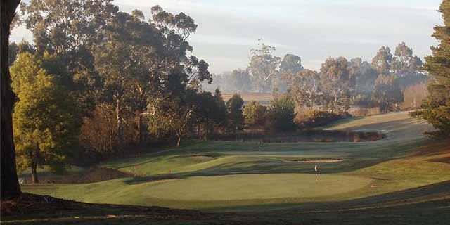 View of the 15th and 13th holes at Trentham Golf Club.