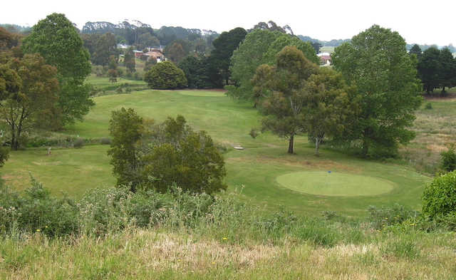 A view of two greens at Ballan Golf Club.