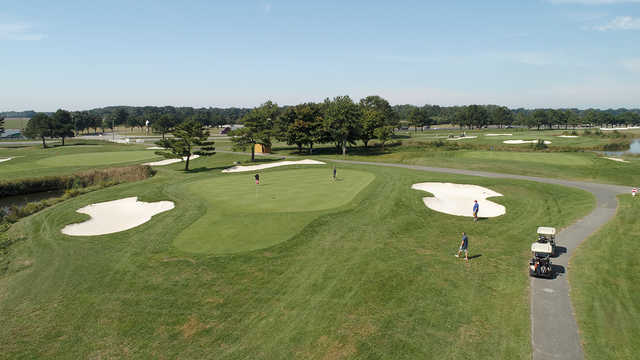 View of a green at Hog Neck Golf Course.