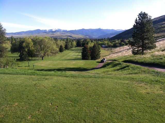 A view of tee #3 at University of Montana Golf Course.