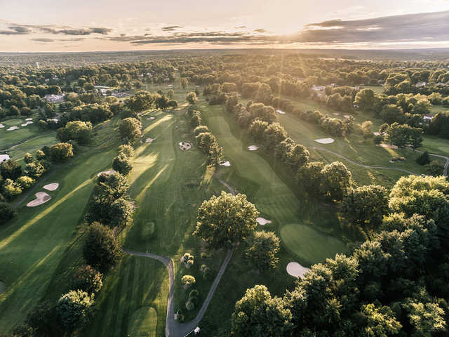 Aerial view from Northampton Valley Country Club.