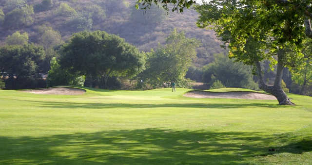 A view of a green at Anaheim Hills Country Club.