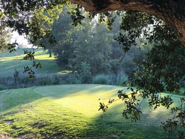 A view of the 9th tee at Anaheim Hills Country Club.