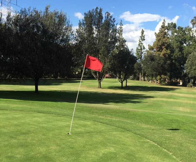 A view of a hole at Bell Gardens Golf Course.