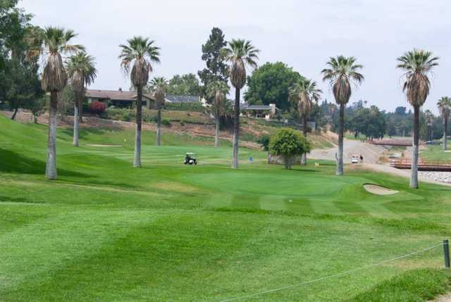A view of a green at Brea Creek Golf Course.
