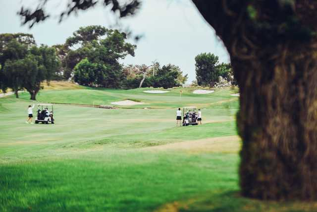 A view of a well protected hole at SeaCliff Country Club.