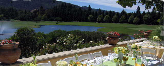 A view from the terrace at Vintner's Golf Club.