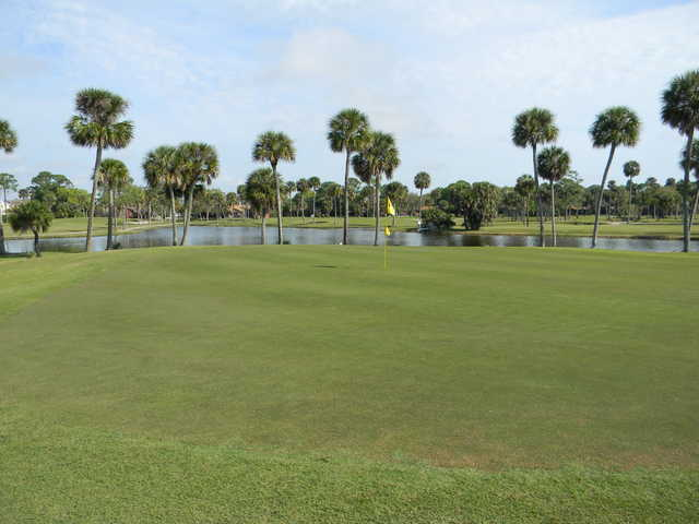 View of a green at Turtle Creek Golf Club.