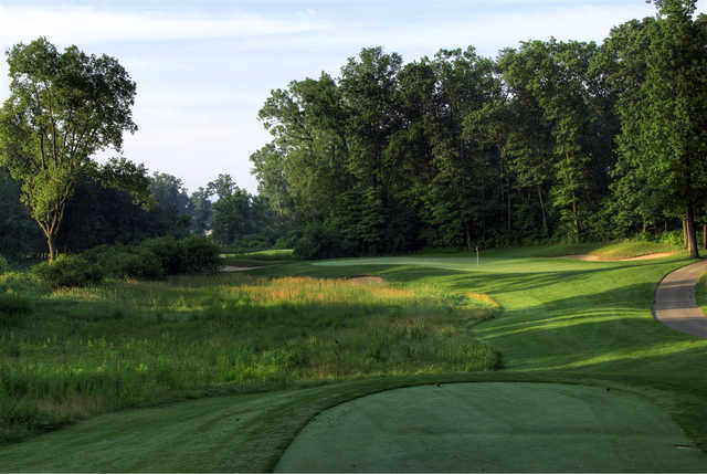 A view from tee #4 at Back 9 from Hawk Hollow Championship Golf Course.