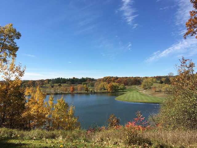 A view of a fairway at Mystic Creek Golf Club.