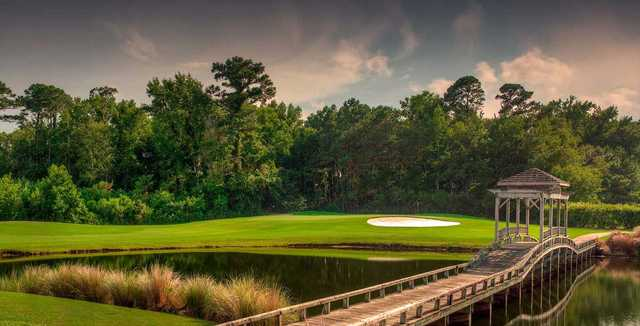 View of the 16th hole at The Pointe Golf Club.