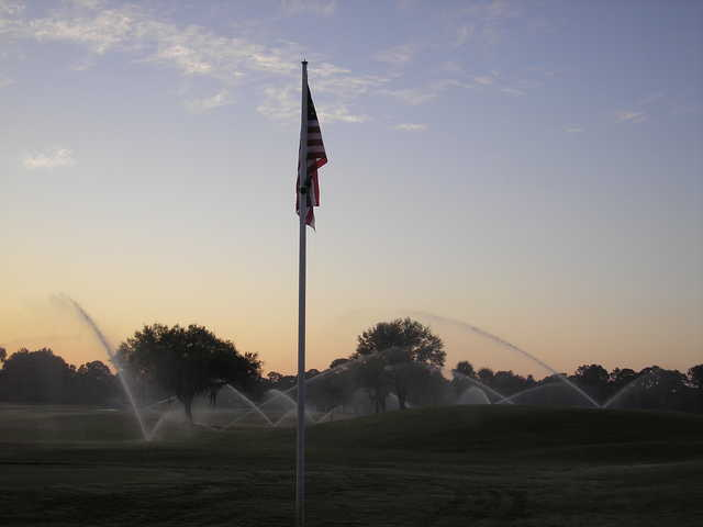 A sunrise view from a green at Del Tura Golf & Country Club.