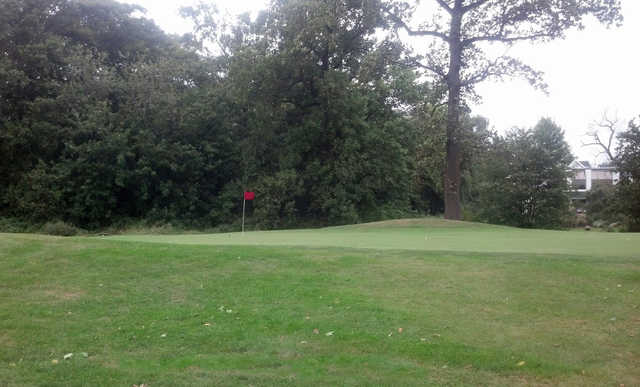 A view of hole #1 at Clearview Park Golf Course.