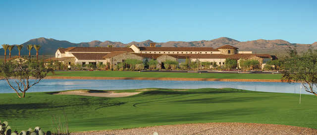 View of the clubhouse at SaddleBrooke Ranch Golf Club