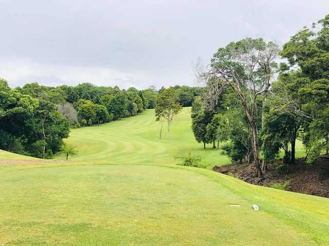 View from a tee at Maleny Golf Club.