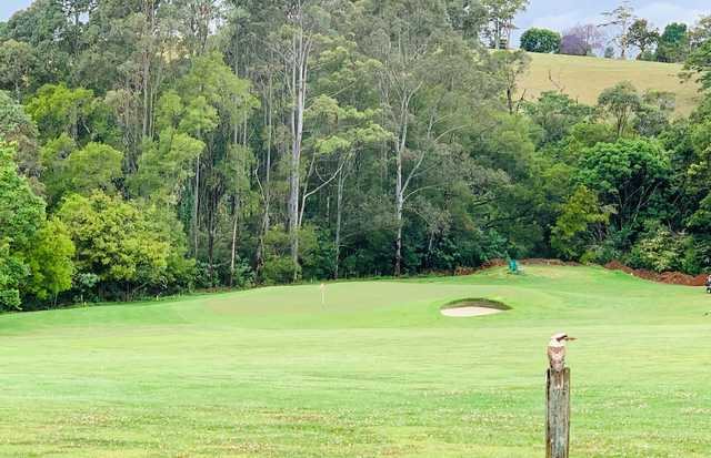 View of a green from Maleny Golf Club