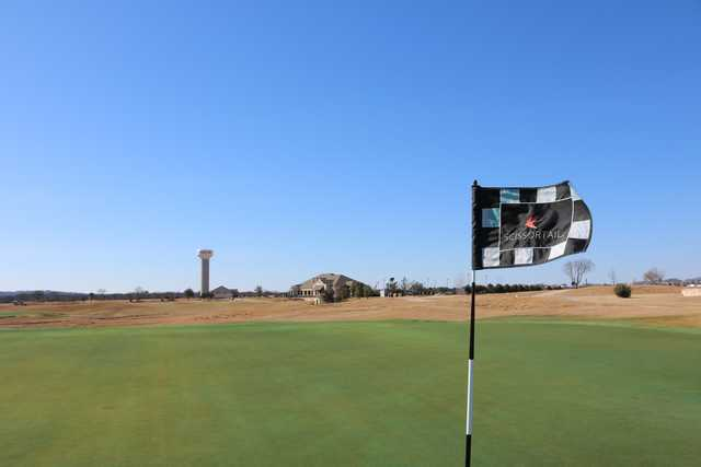 A view from a green at Scissortail from WinStar Golf Course.