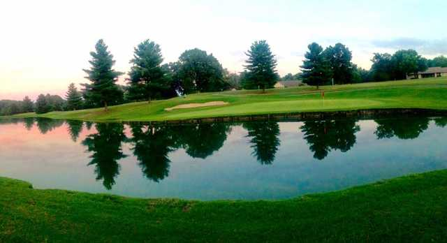 A view of a hole at Dandridge Golf & Country Club.