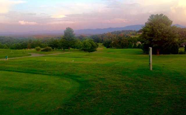 A view of a tee at Dandridge Golf & Country Club.