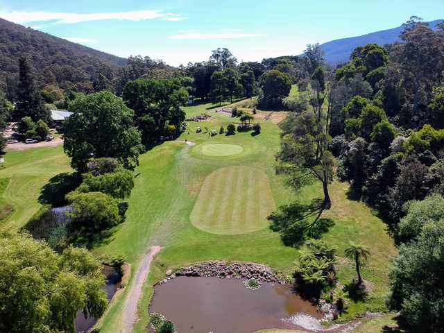 Aerial view from Warburton Golf Club.