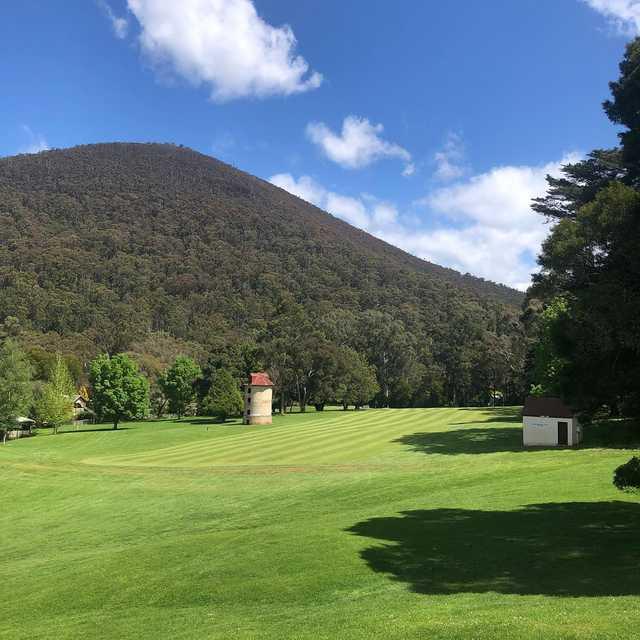 A view from Warburton Golf Club.