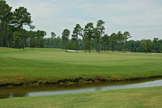 A view of the 1st hole at Open Course from World Tour Golf Links