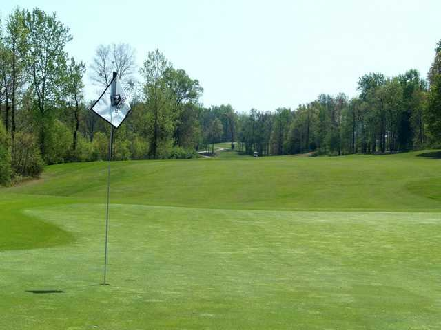 A view of green #12 from Rocky River Golf Club at Concord.