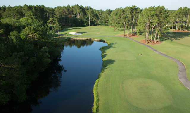 A view of a tee at Sandpiper Bay Golf & Country Club.