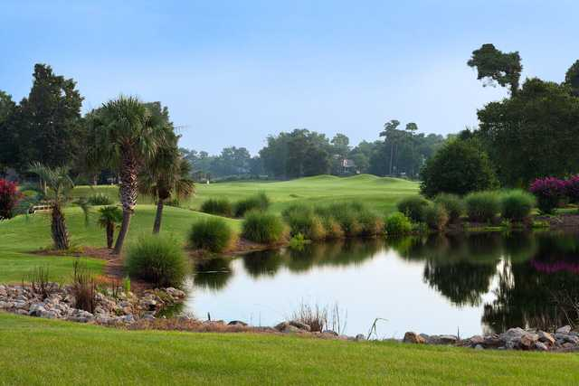 A view over a pond at Sea Trail Golf Resort and Convention Center.