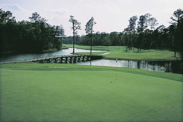 A view of a hole at Witch Golf Club.