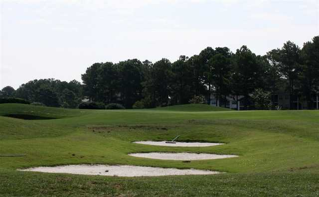 A view of a hole at Wizard Golf Course.