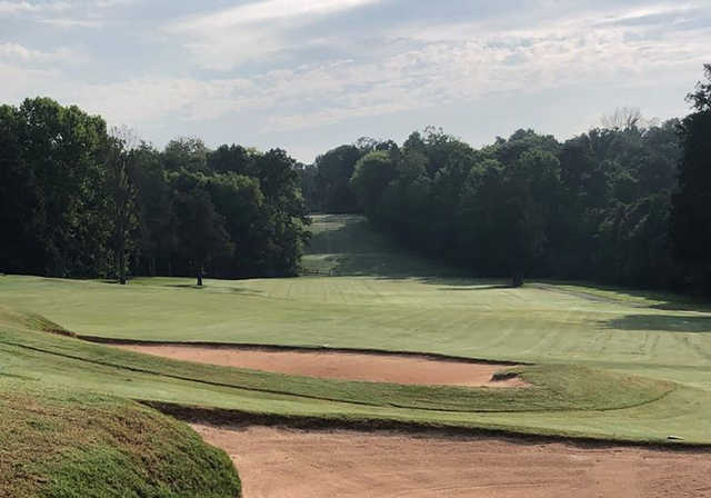 A view of fairway #13 at Deep Springs Country Club.