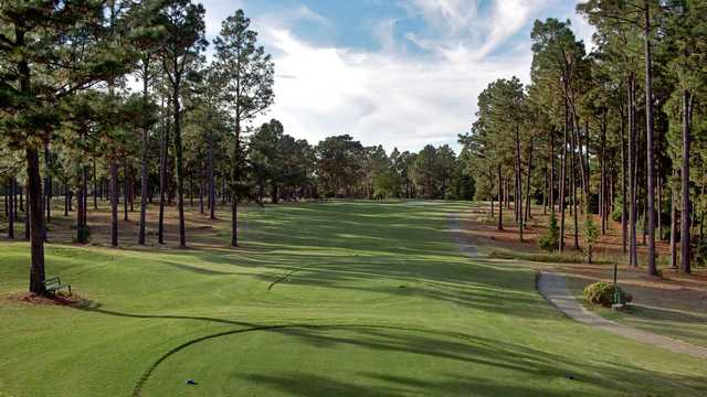 A view from a tee at Country Club of Whispering Pines.
