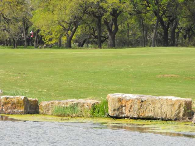 A view of hole #1 at Delaware Springs Golf Course.