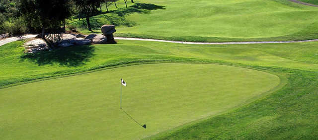 A view of a hole at Mt. Woodson Golf Club.