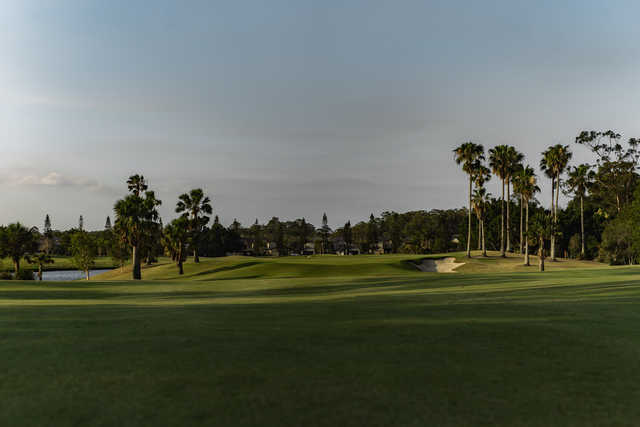 View of the 14th green from The Palms at Sanctuary Cove Resort.