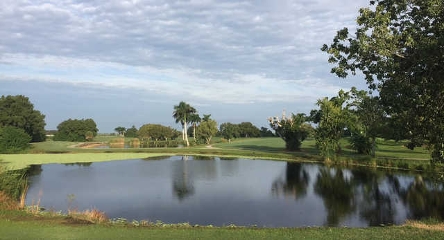 A view over the water from Belle Glade Municipal Golf Club.