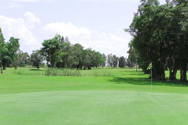 A view of a green at Belle Glade Municipal Golf Club.